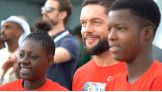 Finn Bálor gives a memorable gift to an athlete at the Special Olympics 2019 World Games