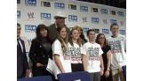 Brodus Clay & Kaitlyn participate in a be a STAR rally in Stamford, Conn.