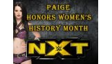 NXT Women's Champion Paige celebrates Women's History Month