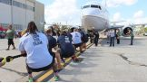 NXT Superstars and Special Olympics athletes compete in the Special Olympics Florida Plane Pull
