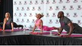 WWE, Susan G. Komen and project:OM host a yoga class to support the fight against breast cancer